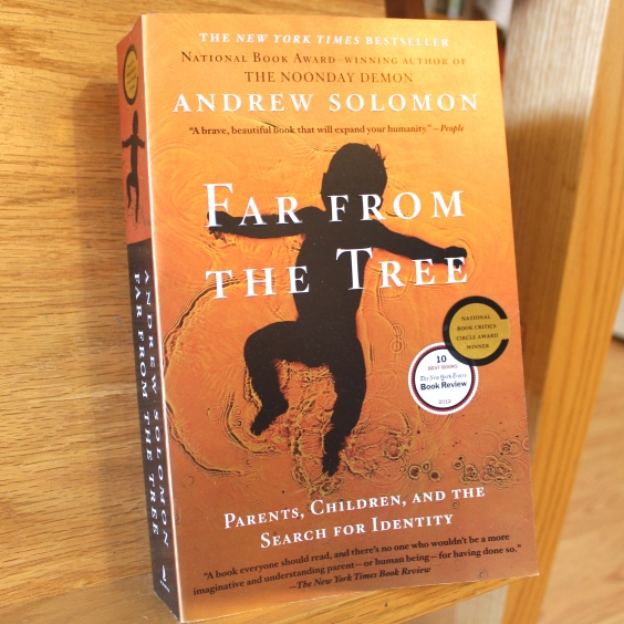 """Far from the tree"" refers to the old saying, ""The apple doesn't fall far from the tree."" This book discusses how parents deal with children who do, in fact, fall far from the metaphorical tree -- that is, they are different, disabled, or special in some way that sets them apart from the rest of their family."