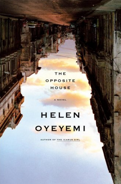 """The sky and upside down buildings on Helen Oyeyemi's The Opposite House."""