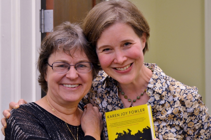 Karen Joy Fowler and Ann Patchett (photo courtesy Chapter16.org)