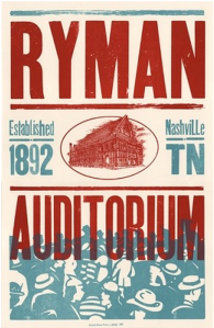 By the way, these posters that you see all over town? Those are made by Nashville letterpress legend, Hatch Show Print -- you might want to check them out, too.