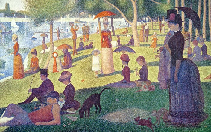 Sunday-afternoon-by-Georges-Seurat-Wallpaper-1