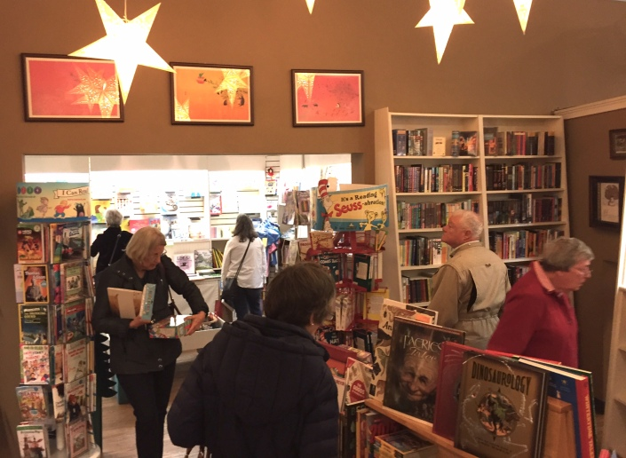 Customers browsing in the children's section