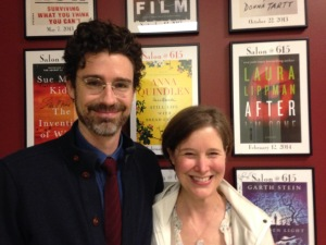 Joshua Ferris and one very happy Ann Patchett