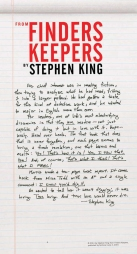 This color broadside from Stephen King's forthcoming novel, Finders Keepers, is a love letter to passionate readers, written in King's own hand!