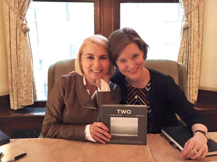 Melissa Ann Pinney and Ann Patchett with their new book, Two
