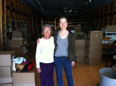 Ann with her former teacher (and lifelong friend) Sister Nena.